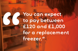 freezer replacement costs quote